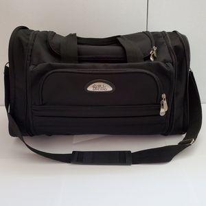 Bob Mackie black duffle/weekender travel bag